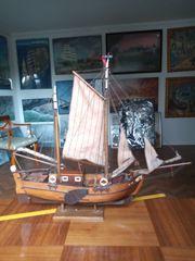 Historisches Segelschiffsmodell Zweimaster Ewer Seeadler