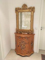 Vergoldeter Spiegel blattvergoldet - handgefertigtes Einzelstück