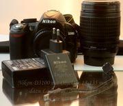 Nikon D3100 mit Objektiv