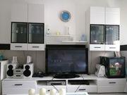 Wohnzimmerwand Hochglanz weiß