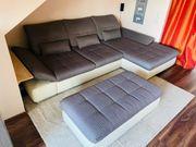 Sofa Ecksofa Couchgarnitur mit Hocker