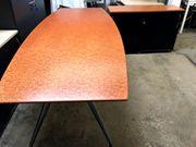 Besprechungstisch mit Sideboard aus Kirschbaumholz -