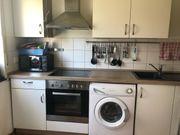 Küche weiß hellbraun
