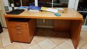 Büromöbel 5 teilig 2 Schreibtische