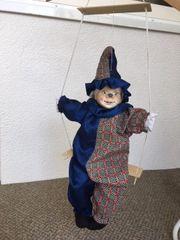 Clown Dekoclown Deko - auf Schaukel