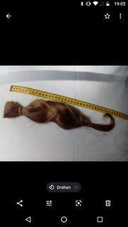 Naturblondes Haar 42 cm