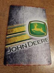 John Deere Traktor Blechschild Blech