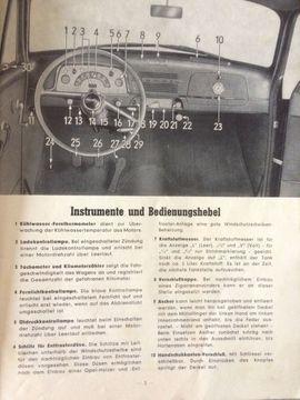 Oldtimer-Teile - Betriebsanleitung OPEL Olympia 1954