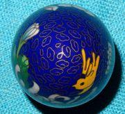Herrliches blaues chinesisches Cloisonné Ei