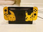 Nintendo Switch Pikachu mit Spielen
