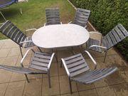 Gartengarnitur Klapptisch inkl 6 Stühle