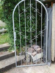 Gartentür mit Rundbogen Schmiedeeisen verzinkt