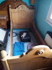 antikes Bett weichholz 190-90