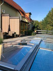 GFK Pool Ueberdachung Smart 8m