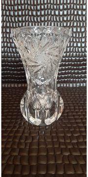 Alte Bleikristall Vase Schleuderstern