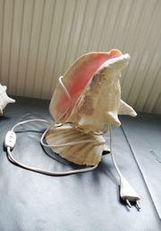 Schöne Muschellampe voll funktionsfähig