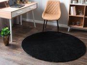 Teppich schwarz ø140 cm DEMRE