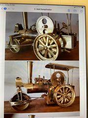 Dampfwalze Dampfmaschine aus Messing Old