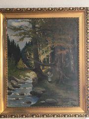 Signiertes Landschafts-Ölgemälde