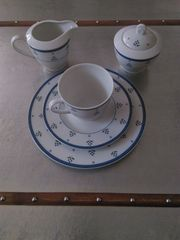 Blauweißes Kaffeeservice von Winterling