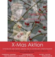 Happy X-Mas-Aktion 4x Unterricht Gitarre