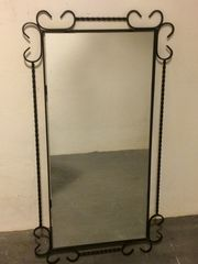 Verkaufe großen Spiegel in schmiedeeisernem