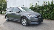 VW Touran-Grau-metallic-Euro6-Diesel-116PS-EZ11 2016-7-Sitzer-Anhängerkupplung-LED-Scheinwerfer