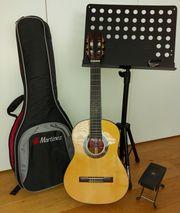 Gitarre mit Zubehör