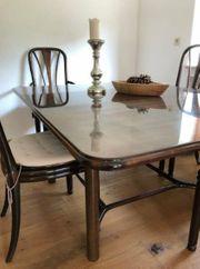 Esstisch massiv Kirschholz sechs Stühle