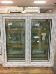 Kunststofffenster 150x150 cm weiß 2flg