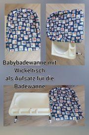 Babybadewanne mit Wickeltisch Badewannenaufsatz