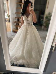 Brautkleid Hochzeitskleid Glitzer Tüll mit