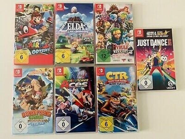 diverse Nintendo Switch spiele