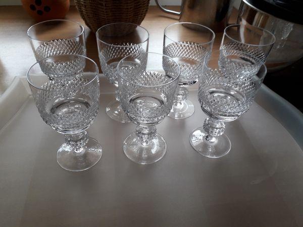 7x Weingläser - Kristalloptik- Spiegelau