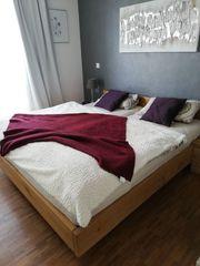 Design Holzbett aus Eiche