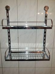 Badezimmer Hängeregal chrom Schraubenlose Befestigung