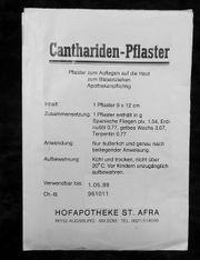 Gebrauchsanweisung Info für Cantharidenpflaster