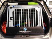 Hochwertige Heyermann Hunde-Transportbox neuwertig zu