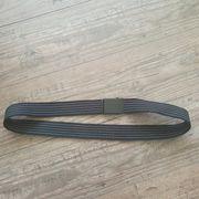 Gürtel schwarz-weiss Länge 107 cm