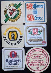 Bierdeckel von DDR Brauereien