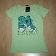 Mädchen Kurzarm T-Shirt Sneaker Kinder