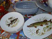 Keramikgefäß für Fisch Teller mit