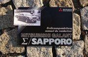 Betriebsanleitung Misubishi Galant Sapporo 1978
