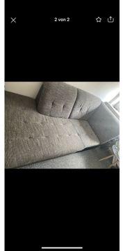 Sofa Couch Teil Grau