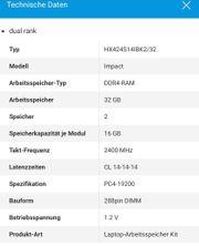 hyper X DDR4 RAM 3200mhz