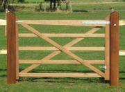 101 Englisches Holztor Pferdezaun Weidezaun