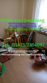 Weber Entrümpelung Haushaltsauflösung Wohnungsauflösung