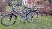 Fahrrad in tollem blau grau