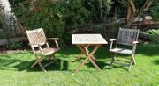 Gartenset 1x Tisch 2x Stühle