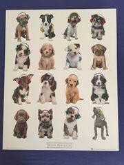 Bild von Hunden mit Kopfhörern